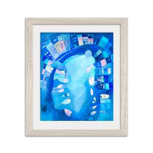 Polperro In Blue (Print)